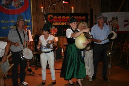 Sommermeeting Schlögen 2012 Stadl Party
